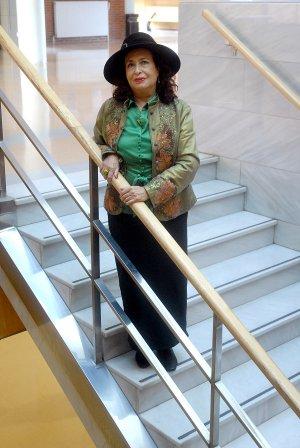 Lidia Falcón en la Universidad de La Rioja :: Foto de ALFREDO IGLESIAS (10 Dic 2009)