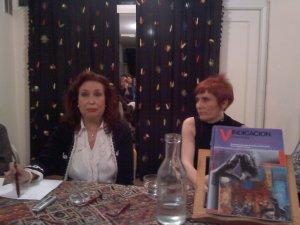 Lidia Falcón y María Angeles Larumbe